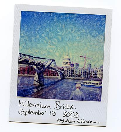 millennium bridge london, van gogh style