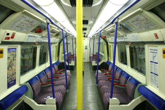 Piccadilly Line carriage.